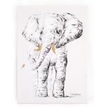 Childhome Ölgemälde Elefant schwarzweiß 40x30 cm