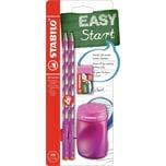 STABILO Bleistift EASYgraph Start Set Rechtshänder pink 4-tlg.