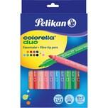 Pelikan Doppelfasermaler Colorella Duo 12 Farben