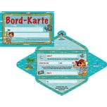 Lutz Mauder Verlag Einladungskarten inkl. Boardkarte Tattoo Pirat Pit Planke 8 Stück