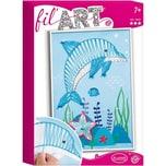 Aladine Fadenbild Delfin