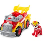 Spin Master PAW Patrol Mighty Pups Super Paws Feuerwehrauto mit Marshall-Figur Basic Themed Vehicle