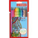 STABILO Filzstifte Pen 68 12 Farben