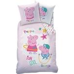 CTI Wende-Kinderbettwäsche Peppa Pig Recreation Biber 135 x 200 cm