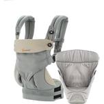 Ergobaby Von-Geburt-an-Paket Babytrage 360° Grey/Taupe