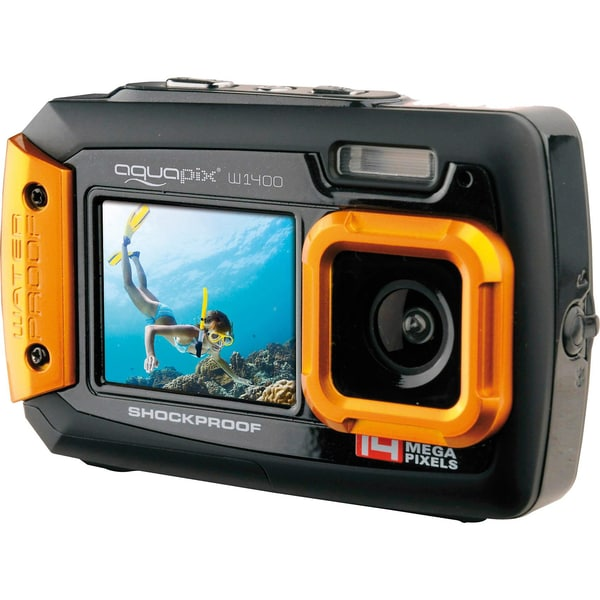 easypix Unterwasser Digitalkamera Aquapix W1400 Active schwarz/orange