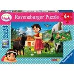 Ravensburger 2er Set Puzzle je 24 Teile 26x18 cm Heidi in den Alpen