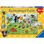 Ravensburger 2er Set Puzzle je 24 Teile 26x18 cm Der Maulwurf im Garten