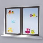 Fenstersticker Eulen