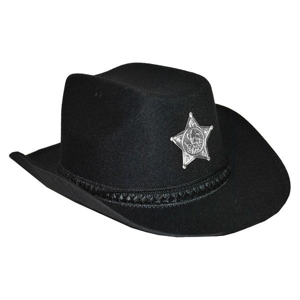Funny Fashion Cowboyhut Schwarz