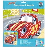 URSUS Moosgummi-Mosaik Glitter Rennwagen bunt