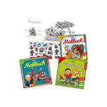 Lutz Mauder Verlag Mini-Malbücher mit Stickern Jungen 3 Stück