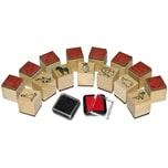 Sunnysue Mini-Holzstempel Zoo, 15 Stück, inkl. 2 Stempelkissen