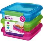 sistema Lunch Brotdosen Sandwich Box Coloured 3 Stück