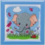 CRAFT Buddy Kristallkunst-Rahmenset mit Bilderrahmen Elefant