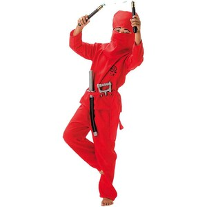 Kunterbunt Kostüm Roter Ninja 2-tlg.