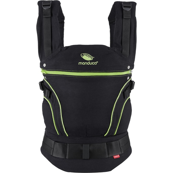 Manduca Babytrage BlackLine ScreaminGreen