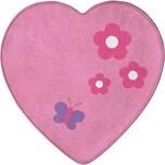 Achoka Kinderteppich Ultrasoft Schmetterling Herz 75 x 75 cm