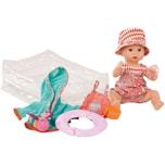 Götz Badepuppe Sleepy Aquini Mädchen mit Schlafaugen und Bade-Set 33 cm