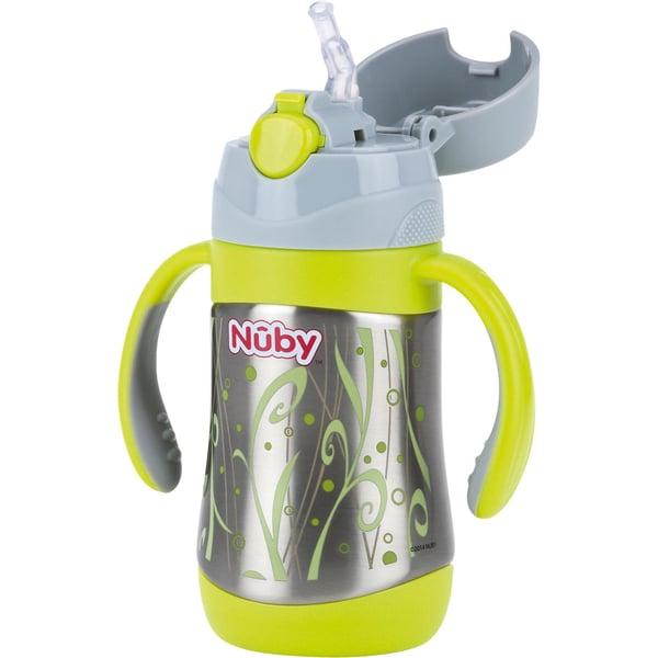 Nuby Thermo Trinkhalmflasche Clik-It Edelstahl 280 ml