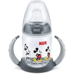 Nuk Disney Mickey Mouse First Choice Trinklernflasche 150 ml Silikon-Trinktülle auslaufsicher 6-18 M