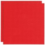 Basisplatte 32x32 Rot Zweierpack