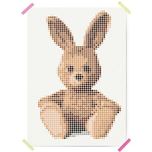 Dot On Art Cuddle Bunny 50 X 70 cm