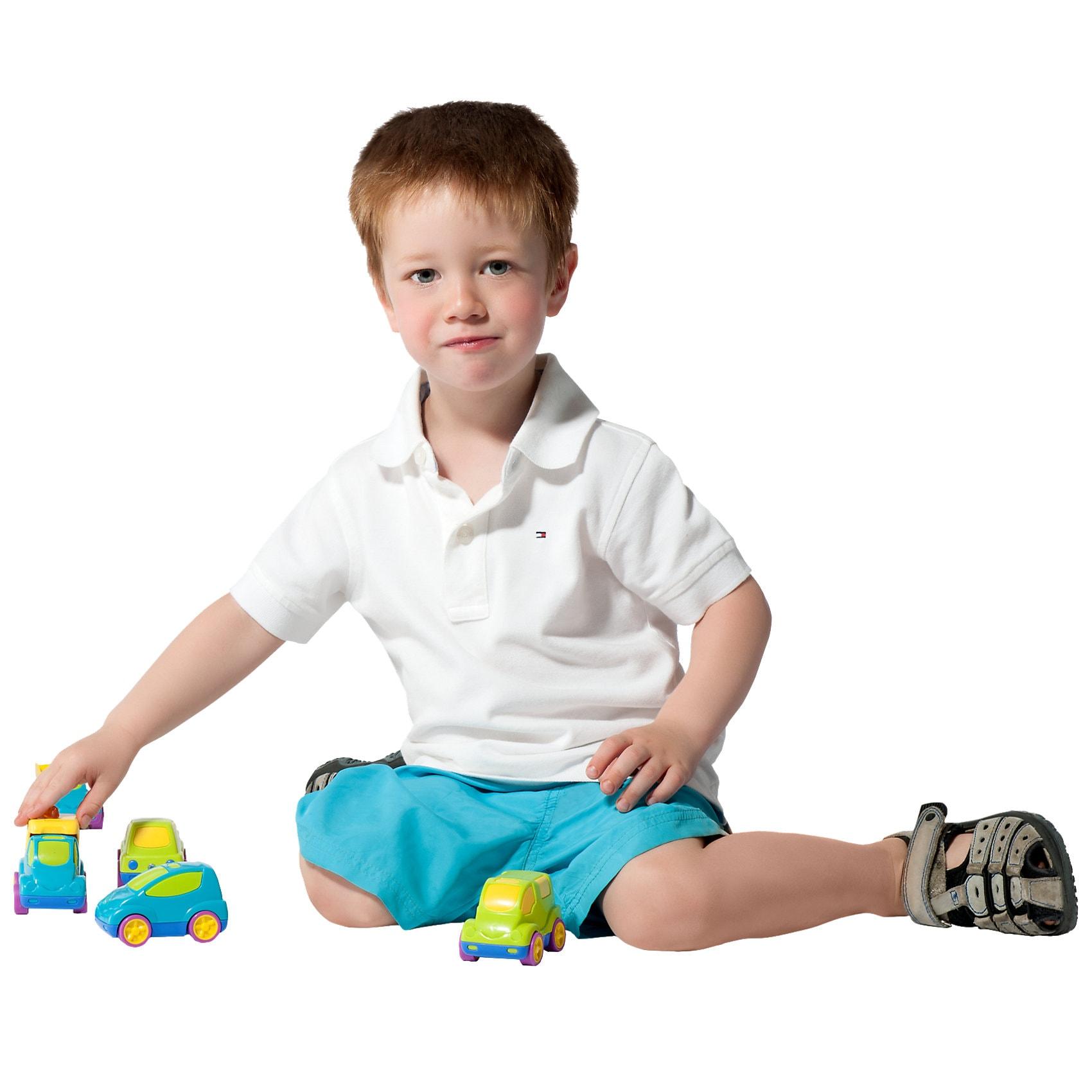 Wader Baby Cars 5er Set  Fahrzeuge für Parkgaragen