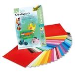 Folia Kreativpack 25 Blatt Tonpapier & 25 Blatt Fotokarton, 23 x 33 cm, bunt, mehrfarbig, 50-teilig (1 Set)