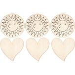 Sunnysue Memomagnete Herz & Sonne zum Selbstgestalten 6 Stück