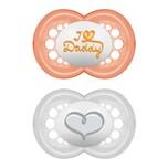 Mam Schnuller Original Silikon Gr. 2 I Love Daddy girl 2er Pack