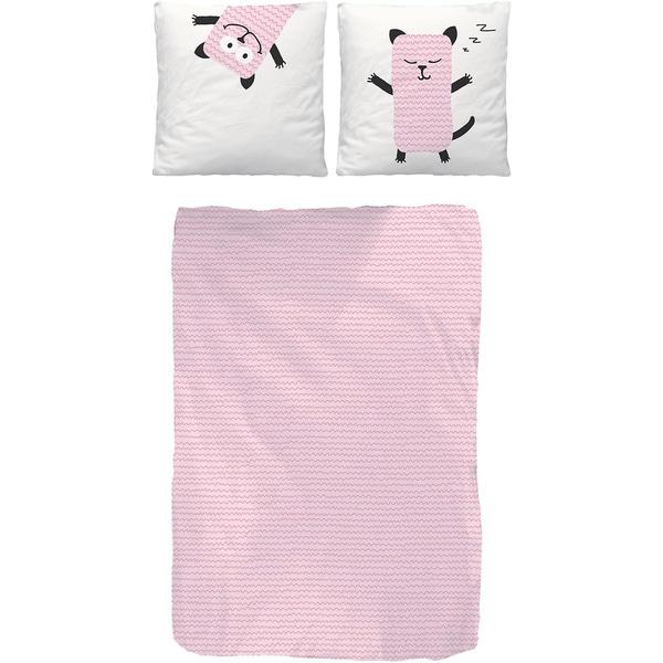 Bettwäsche schlafendes Tier Biber rosa 135 x 200 cm