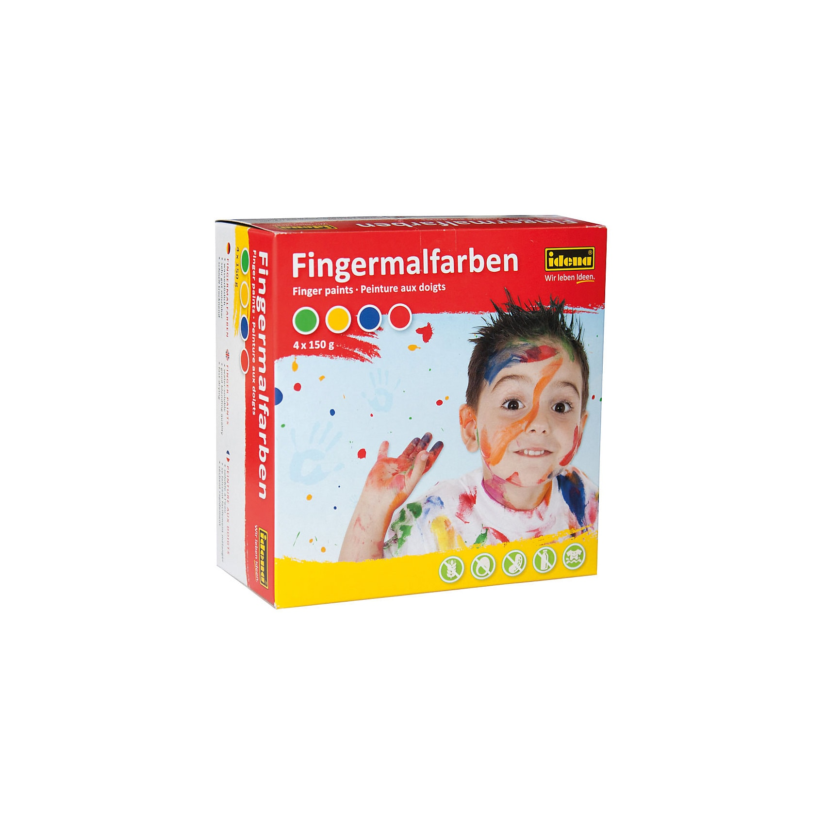 Idena Fingerfarben 4 x 150 ml