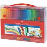Faber-Castell CONNECTOR Filzstifte Kunststoff-Koffer 72-tlg.