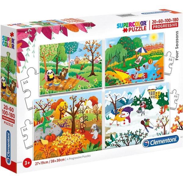 Clementoni Puzzle-Set 2060100180 Teile Jahreszeiten