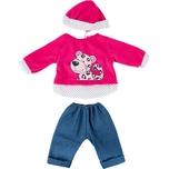 BAYER Kleider für Puppen 40-46 cm: 3-tlg. - Hose Oberteil Mütze blaupink
