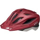 KED Helmsysteme Fahrradhelm Street Jr. pro merlot ash matt