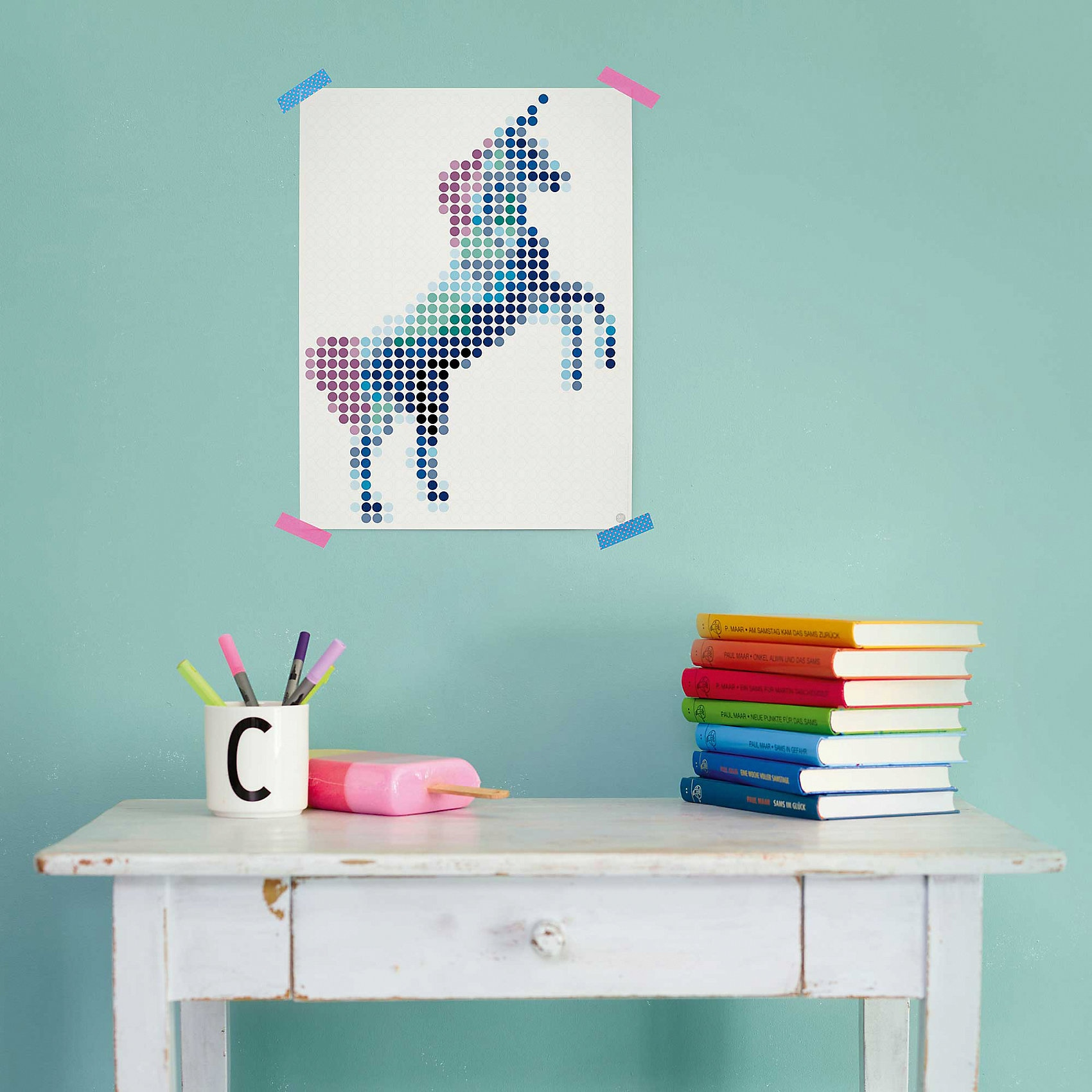 dot on art trend - einhorn 30 x 40 cm