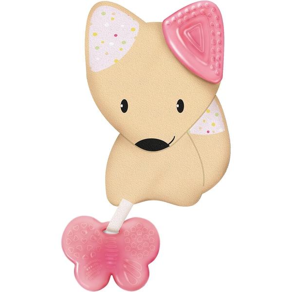 Chicco Beißring Softtierchen Fresh Friends mit abnehmbarem Beißring Girl Fuchs rosa