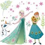 KOMAR Fenstersticker Disney Frozen Flower 19-tlg.