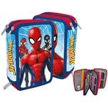 Doppel-Federmäppchen Spider-Man befüllt