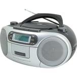 Soundmaster CD Player mit DAB Radio und Kassettenspieler grau