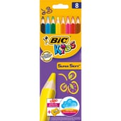 BIC Kids Super Soft Buntstifte-Set mit Anspitzer