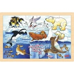 goki Einlegepuzzle Polartiere
