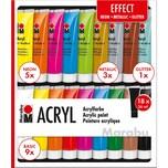 Marabu Acrylfarben Set EFFECT 18 x 36 ml