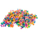prohobb Perlensortiment farbig sortiert mit großer Bohrung 100 g