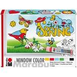 "Marabu Window Color Set fun fancy ""Spring Time"" 6 x 25 ml"