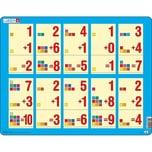 Larsen Rahmen-Puzzle 10 Teile 36x28 cm Erstes Rechnen