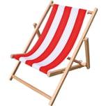 Beluga Kinderliegestuhl rot/weiß gestreift