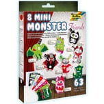 folia 50106 Mini Monster Friends Bastel-Set für 8 Monster, bunt, 63-teilig (1 Set)